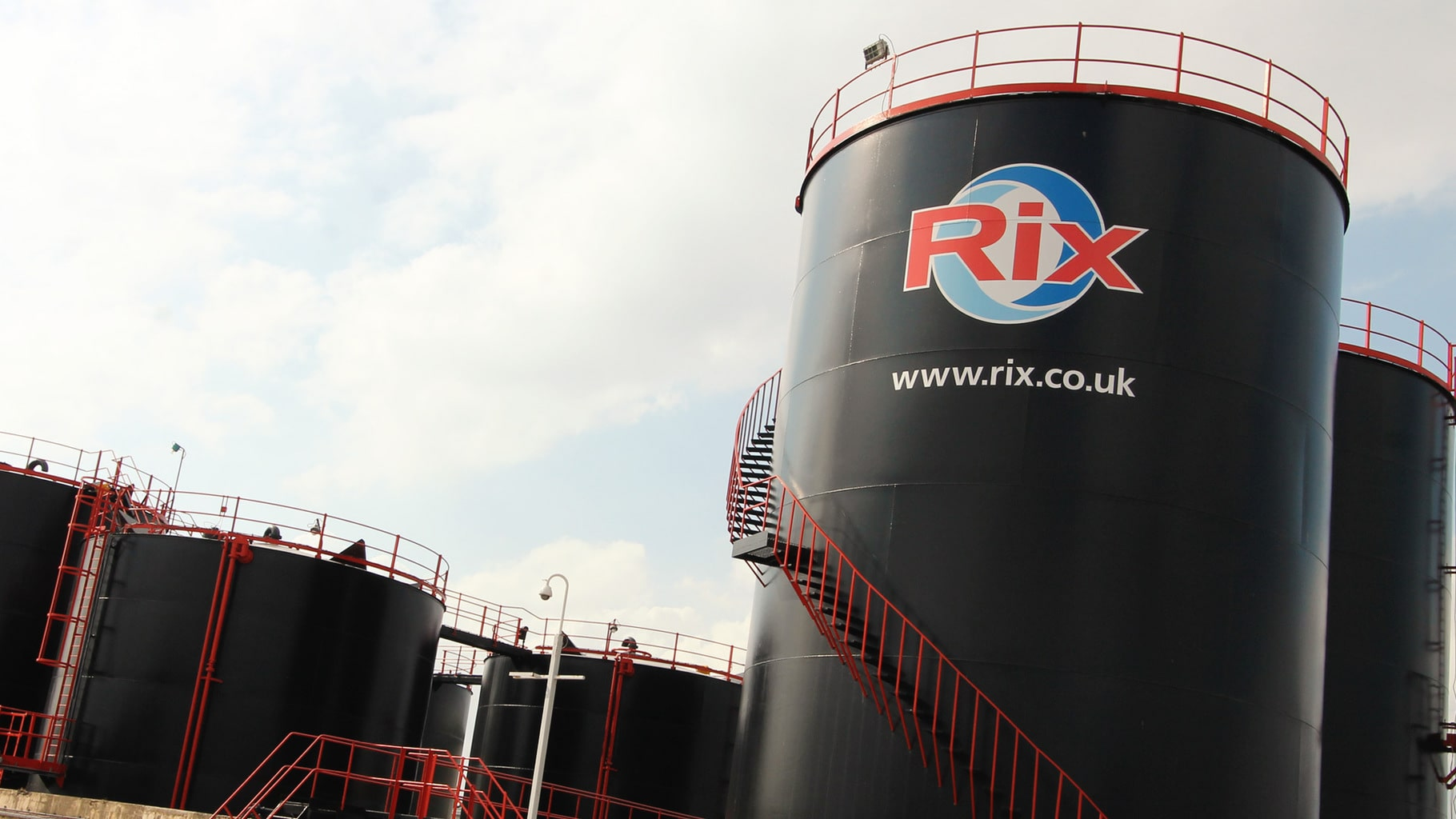 Rix Petroleum tanks at the Yorkshire depot