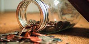 Jar Of Money Fallen Over