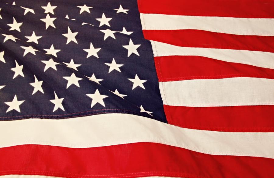 Close Up Of USA Flag