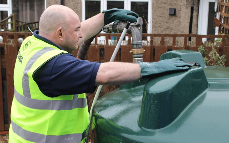 Rix Employee Filling Bunded Tank