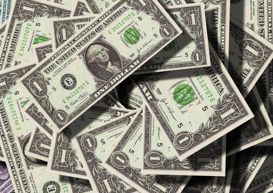 Pile of One Dollar Bills